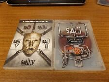 Saw 1,2,3,4,5 Unrated Collector's Set (DVD, 2009, 5-Discs) + The Final Chapter