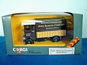 CORGI D897/11 - AEC 508 FORWARD CONTROL 5 TON CABOVER VAN - JOHN BARKER & CO LTD