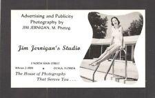 ADVERTISING POSTCARD:  SWIMSUIT MODEL - JIM JERNIGAN'S PHOTO STUDIO - OCALA, FL