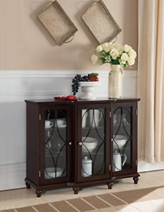 Kings Brand Furniture - Wood Storage Sideboard Buffet Cabinet Console Table,