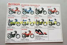 Motron 50 Produzione ciclomotori 1985 depliant originale brochure