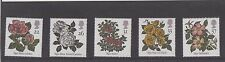 MINT 1991 GB ROSES FLOWERS STAMP SET OF 5 MUH STAMPS
