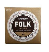 D'Addario Guitar Strings  EJ34  Folk Nylon  Ball Ends  Bronze Wound Basses