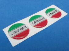 LAVERDA LOGO DOMED DECAL EMBLEM STICKER SET OF THREE #281