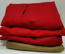 "Wool Cutter Fabric Craft Hook Rug 4 Skirts 3 Red 1 Tan 34"" Long 3 Wool 1 Alpaca"