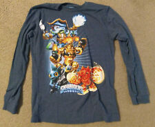 Boys Blue Heather Long Sleeve Old Navy Collectabilitees Skylanders T-shirt Size