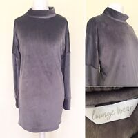 M&S Loungewear Dress 16 Grey Long Sleeve High Neck Tunic Jumper SOFT Sweater Top