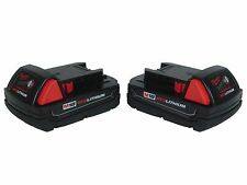 Milwaukee 48-11-1815 18Volt Lithium-Ion Compact Battery 2 Pack (Retail packaged)
