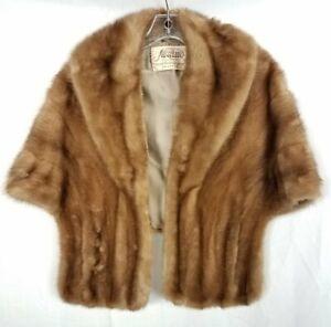 Nestler Brown Mink Fur Cape/Shawl w/ Pockets