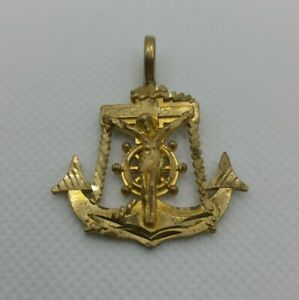 10k Gold Jesus Anchor Pendant - Vintage - Over 30 Years Old