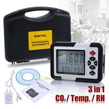 "3.5""LCD Carbon Dioxide CO2 Monitor Detector Air Temperature Humidity Data Logger"