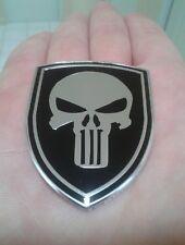 The Punisher Shield Emblem Badge Car Motorcycle Sticker (Aluminium Alloy)