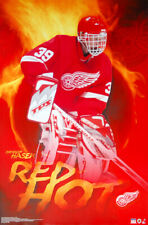 newest 178b3 c0a1a Dominik Hasek RED HOT (2002) Detroit Red Wings Goalie Action POSTER