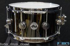 DW Collectors Series 7x13 Black Nickel Over Brass Snare Drum #946108
