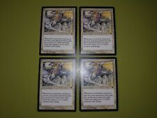4 PLAYED Field of Souls White Tempest Mtg Magic Rare 4x x4