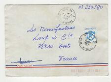 1 timbre sur lettre 1987 tampon Côte-d'Ivoire Abidjan  /L235