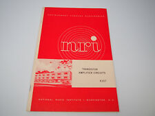 1971 NRI National Radio Institute Transistor Amplifier Circuits Booklet K307