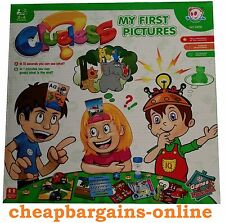 FIRST PICTURES CLUELESS LEARNING GAME EDUCATIONAL HEADBAND FLASH CARDS GUESSING