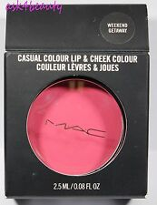 Mac Casual Colour Lip & Cheek (Weekend Getaway) 0.08oz/2.5ml New In Box
