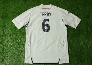 ENGLAND NATIONAL TEAM TERRY 2007/2009 FOOTBALL SHIRT HOME UMBRO ORIGINAL YOUNG L