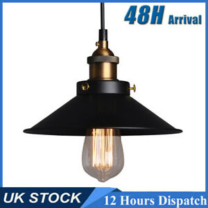 Vintage Industrial Loft Style Metal Ceiling Pendant Light Shades Lampshade Lamp