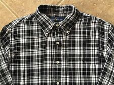Ralph Lauren Double Faced Plaid Shirt Mens XL Black & White w/Blk Pony NWT $125