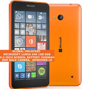 "Microsoft Lumia 640 8gb Quad-Core 8mp Caméra 5.0 "" Windows Phone Smartphone +"