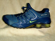 Nike Shox mens trainers Leather Blue-Navy UK 11 EU 46