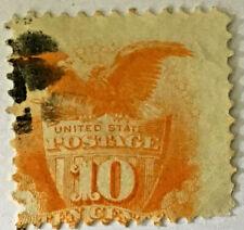 1869 USED US SHIELD & EAGLE STAMP #116