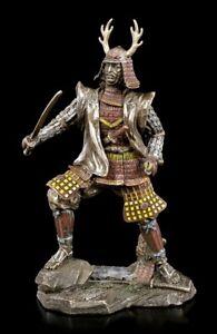 Samurai Figur mit Katana - Veronese Krieger Kämpfer Dekostatue