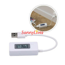 Portable LCD Dual USB Charger Mobile Power Detector Current Voltage Meter Tester