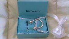 Sterling Silver TIFFANY Key Ring, Flannel Pouch & Box
