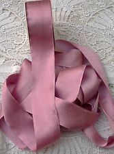"100% PURE SILK SATIN RIBBON [36MM] 1 1/2"" WIDE ANTIQUE/ROSE 3 YARDS - LIMITED -"