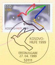 BRD 1999: Kosovo-Hilfe Nr. 2045 mit dem Bonner Ersttags-Sonderstempel! 1A! 1805