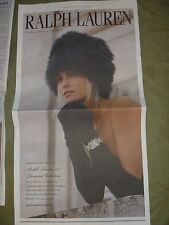 Ralph Lauren Holiday 2013 New York Times Newspaper Ad Clippings Lot December