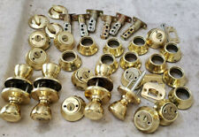 Lot of Kwikset Brass Cylinders Door Locks Entry Knob Deadbolt Latches FOR PARTS