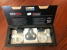 New-Old-Stock LOOK Keo 2 Max Pedals White w/Gray Cleats