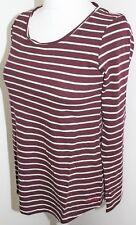 Weird Fish Womens Fairfax Slub T-Shirt Dark Wine Size UK 10 Euro 36 Bust 34 BNWT