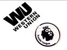 2017-18 Liverpool WESTERN UNION Away/Third Shirt OFFICIAL Sponsor Logo Patch Set