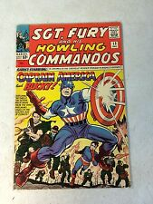 SGT FURY #13 KEY ISSUE, CAPTAIN AMERICA, BUCKY, HOWLING COMMANDOS, 1964, KIRBY