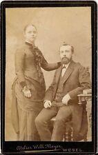 CDV photo Feines Paar - Wesel 1880er