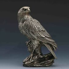 China antique copper silvering hand carving bird eagle Statue