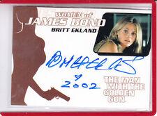 2002 WOMEN OF JAMES BOND BRITT EKLAND THE MAN WITH THE GOLDEN GUN AUTOGRAPH AUTO