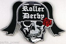 Roller Derby Skull Patch, Girls, Skate, Iron on