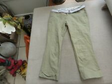 Pair of Quality Hurley cut offs cotton taupe with removable belt 12/3