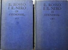STENDHAL (MARIE-HENRI BEYLE) IL ROSSO E IL NERO SONZOGNO 1931