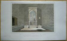 1848 print OSSUARY CHAPEL IN FRANCISCAN CONVENT, MADEIRA (#5)