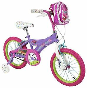 """Dynacraft Trolls Girls BMX Street/Dirt Bike with Hand Brake 16"""" Purple/Pink..."