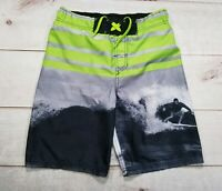Cherokee Swim Trunks Shorts Boardshorts Green Surfer Boys Youth Size L W26""