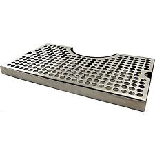 """1 X 12"""" Surface Mount Kegerator Beer Drip Tray Stainless Steel Tower Cut Out ."""